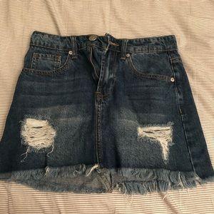 Ashley Mason Mini Denim Skirt